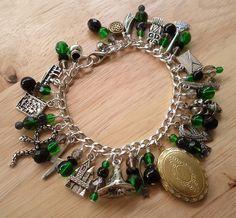 Slytherin House Charm Bracelet