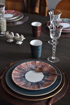 Dinner table Bamboo/Panache . Porcelaine de limoges peint à la main by Marie Daage