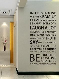 Home Decor We Are Family Proverb Wall Stickers - BLACK 60*90CM