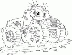 monster truck grave digger coloring pages