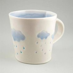 Making Rainy Day Mugs at Petroglyph ( Color Me Mine etc)