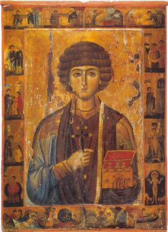 Πνευματικοί Λόγοι: Εικόνα του αγίου Παντελεήμονος με σκηνές του βίου ...