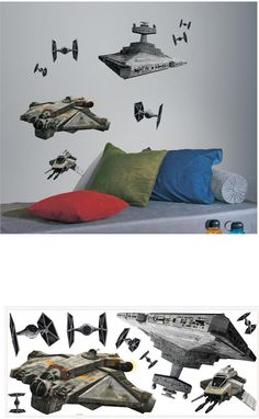 Star Wars Rebel and Imperial Ships Giant Decals - Wall Sticker Outlet