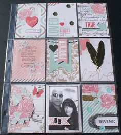 This is my video response for Sybil's love themed pocket page challenge. I created a pocket page to commemorate my year wedding anniversary! Pocket Pal, Pocket Cards, Scrapbook Titles, Scrapbook Cards, Project Life, Shadow Box Memory, Snail Mail Pen Pals, Pocket Envelopes, Envelope Lettering