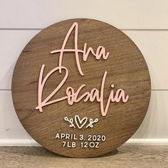 Personalized Wooden Signs, Wooden Name Signs, Custom Wooden Signs, Baby Name Signs, Baby Names, Personalized Baby, Girl Names, Nursery Signs, Nursery Decor
