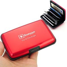 Card Package Case Cover with Aluminum and Metal-Red  http://www.tripleclicks.com/12111575/search/dept/3