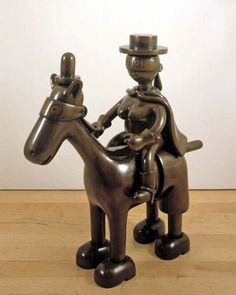 Tom Otterness ~ Horse and Rider, 2004 (bronze)