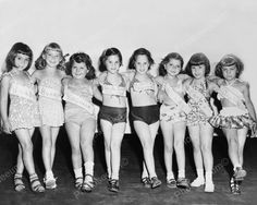 Vintage US Young Girl Beauty Contestants 8x10 Reprint Of Old Photo