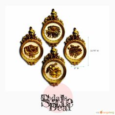 Today Only! 40% OFF this item. Follow us on Pinterest to be the first to see our exciting Daily Deals. Today's Product: Sale -  Set of 4 Vintage Distressed French Gold Regal Wall Medallions Buy now: https://orangetwig.com/shops/AABdT38/campaigns/AACmnzZ?cb=2016006&sn=Heathertique&ch=pin&crid=AACmnl8&exid=249330316&utm_source=Pinterest&utm_medium=Orangetwig_Marketing&utm_campaign=05-02-16   #vintagefurnitureonline #homedecor
