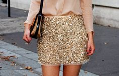 Zara embroidered mini skirt with sequins worn with nude blouse
