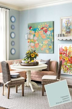 Sherwin Williams Tidewater paint color from Ballard Designs catalog