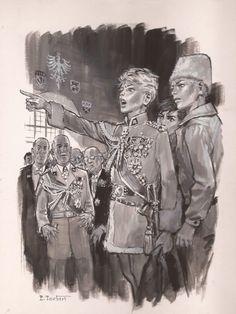 """Crayon, lavis et gouache pour une illustration parue en 1971 dans Signe de Piste """"Le prince Eric"""" Prince Eric, Norman Rockwell, Gouache, Boy Art, Wild Ones, Illustrators, Illustration Art, Culture, Gallery"""