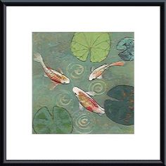Aleah Koury 'Floating Motion I' Framed Art Print