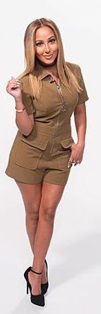 Adrienne Bailon The Real Daytime utility playsuit