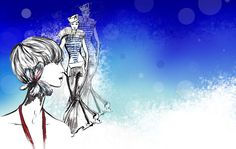 Fashion illustrations inspired by Haute Couture Fashion created into a vibrant desktop wallpaper.  Free Download! #fashionillustration #wallpaper #desktopwallpaper #spakrling #blue #fashion #illustration #fashiondesign #design Desktop, Chic Wallpaper, Haute Couture Fashion, Blue Design, Fashion Illustrations, Blue Fashion, Digital Art, Vibrant, Sparkle