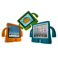 iGuy kid-friendly iPad case. The arms make it easy for kids to carry around.