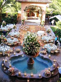 20 ideas for the pool wedding decoration to try on your wedding  #decoration #ideas #pool #wedding Wedding Destination, Wedding Goals, Wedding Resorts, Pool Wedding Decorations, Perfect Wedding, Dream Wedding, Wedding Things, Luxury Wedding, Hacienda Wedding