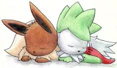 Eevee and Shaymin Sky Form: