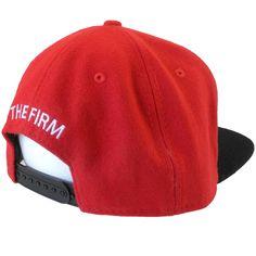 The Firm Hawaii AMF Wool Red/Black Snapback back shot