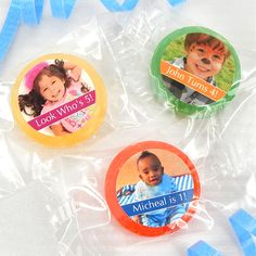 Personalized Photo Life Savers Candy Favors - Famous Favors. Buy now at famousfavors.com. #partyfavors #birthday #birthdaypartyfavors #kidsbirthday #photogifts #candy #lifesavers #ediblegifts 1st Birthday Party Favors, Candy Party Favors, Birthday Party Decorations, Girl Birthday, Edible Gifts, Life Savers, Birthday Photos, Wedding Favors, First Birthdays