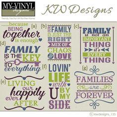DIGITAL DOWNLOAD ... Family vectors in AI, EPS, GSD, & SVG formats @ My Vinyl Designer #myvinyldesigner #kwdesigns