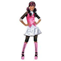 Draculaura Monster High pak maat 122/128  Draculaura houdt wel van een feestje! Je ziet eruit als de superstoere scholiere van Monster High in deze leuke verkleedset en kunt jouw griezelig goede dansmoves laten zien met carnava Halloween of een ander feestje.  EUR 30.99  Meer informatie