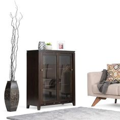 Cosmopolitan 36 X 15 X 42.75 Inch Medium Storage Cabinet In Coffee Brown