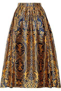 MARY KATRANTZOU Bowles pleated jacquard midi skirt. #marykatrantzou #cloth #skirts