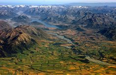 Canterbury plains landscape, New Zealand