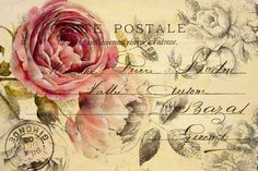 nv Decoupage Vintage, Decoupage Art, Vintage Diy, Vintage Crafts, Vintage Labels, Vintage Ephemera, Vintage Paper, Vintage Postcards, Vintage Flowers