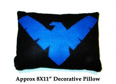 NightWing Decorative Pillow by PrettyPoisonKol on Etsy