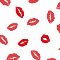 Kisses Red 3 x 5 inch Cellophane Bags