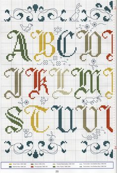 Cross-stitch Colorful ABCs, part 1... plaisier 3