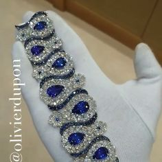 Seeing Blue Stars with this Spectacular Sapphire and Diamond Cuff from @chopard . .