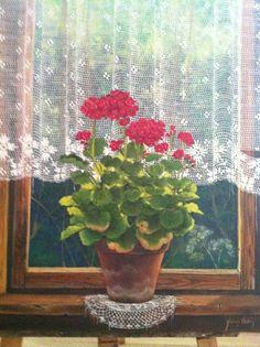 Painter; Füsun Ürkün @@@¡¡¡¡¡¡€.....http://www.pinterest.com/nezahatmelike/kap%C4%B1lar%2Bpencereler/ €€€€€€€€€€€€€€€€€€€€€€€€€€€€€€€€€