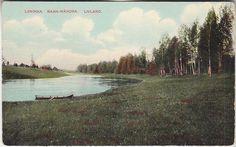 Vana-Vändra, vaade jõele; postkaart enne 1917