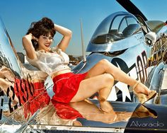 P51 Mustang  #pin-up #wwii #aircraft