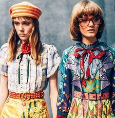 Coiffures seventies au défilé Gucci