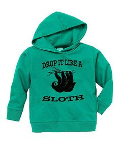 Another great find on #zulily! Kelly Green 'Drop It Like a Sloth' Hoodie - Toddler & Boys #zulilyfinds