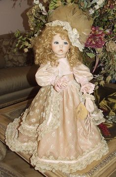 "Vintage 26"" Hilery Diane Effner Reproduction All Porcelain Doll 6 25 Studio 7 