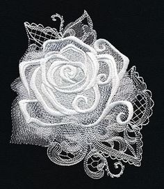 Ghost Baroque - Rose design (UT8595) from UrbanThreads.com