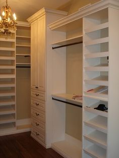 love the light in the closet- a little peak of elegance!  Closet Organizing Systems traditional closet