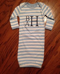 Blue and white stripe  Baby Boy/Girl Coming by SimplyAdorableGifts
