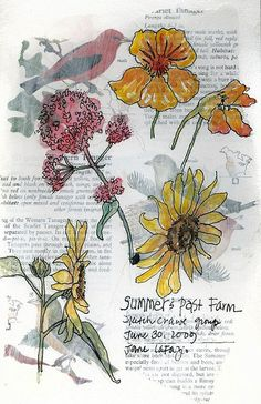 Garden journals .. YES. Discover the world of flowers a little more lovingly.