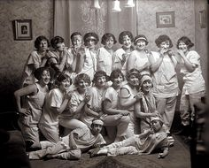Group of young women drinking and smoking at a slumber party. Photograph by the Block Brothers Studio, 1924. Missouri Historical Society Photographs and Prints Collections. Block Brothers Studio Collection. N30978.