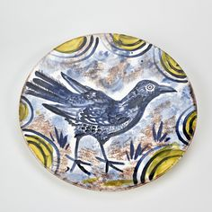 One of Mark Hearld's slipcast platters, produced as part of the St Jude's 'Editions & Objects' exhibition at Yorkshire Sculpture Park http://allthingsconsidered.co.uk/2016/07/mark-hearlds-platters.html