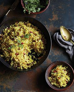 Traditionally served at weddings, Javaher Polow, as it's known in Iran, really lives up to its name. The gorgeous colors and flavors make this rice dish as beautiful to see as it is delicious to eat.