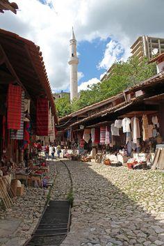 Krujë. Kruja. Albania. Old market.