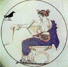 1. O θεός Απόλλωνας κρατώντας στο αριστερό του χέρι τη λύρα (Δελφοί, Αρχαιολογικό Μουσείο)