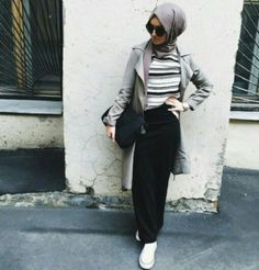 long coat hijab style, Hijab trends from the street http://www.justtrendygirls.com/hijab-trends-from-the-street/